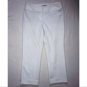 Express White Editor Capri Pants